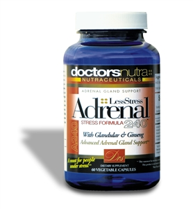 <strong>Adrenal 240 Less Stress Formula, </strong><br>Helps Support Healthy Adrenal Glands!