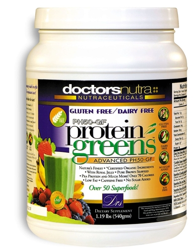 <strong>New! GLUTEN FREE-DAIRY FREE PH50-GF Protein Greens Advanced!<BR><i>With Pea Protein, Brown Rice Protein and Hemp Protein!<BR>Natural Vanilla Flavor - Nature's Superfood</strong><br>Monthly Auto Ship</i>