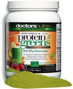 "<STRONG>""THE ORIGINAL"" PH50 Protein Greens Advanced!</strong><br><i><STRONG>NEW NATURAL LOVERS CHOCOLATE Flavor</STRONG><br>Over 50 superfoods, 67 calories, 0% Fat!</i><br>Monthly Auto-Ship Advantage</i>"